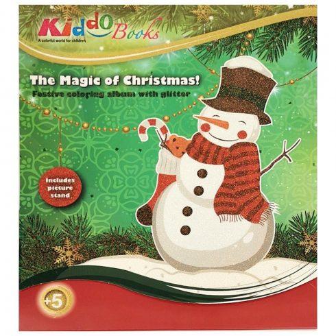 Foglalkoztató füzetek - Színezők - Karácsonyi színező - Hóember Kiddo