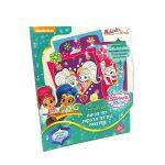 Foglalkoztató füzetek - Shimmer & Shine, Színező Glitteres matricákkal