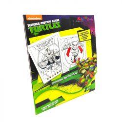 Foglalkoztató füzetek - Tini Ninja Teknőc, Szám szerinti színező, Kiddo Books