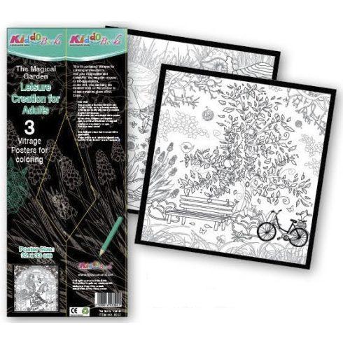 Iskola előkészítő foglalkoztató füzetek - Mágikus kert Vitrage poszterek 23x33cm Kiddo Books