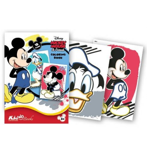 Iskola előkészítő foglalkoztató füzetek - Mickey Egér és barátai első színezőm Kiddo Books