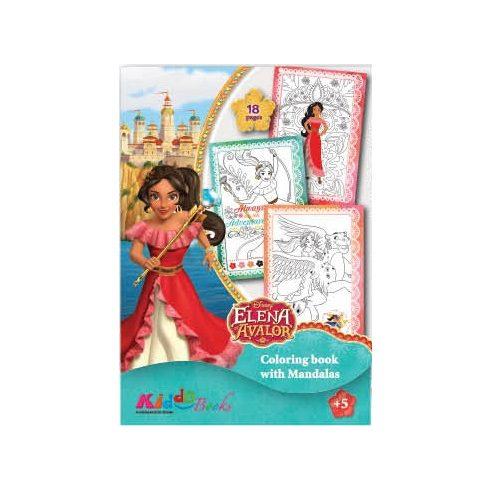 Iskolaelőkészítő foglalkoztató füzetek - Elena, Avalon hercegnője színező - Kiddo