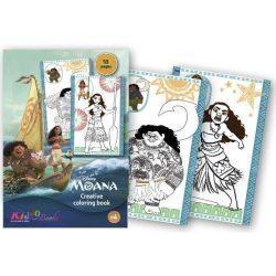 Iskola előkészítő foglalkoztató füzetek - Vaiana színező Kiddo Books
