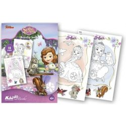 Iskola előkészítő foglalkoztató füzetek - Szófia Hercegnő színező Kiddo Books