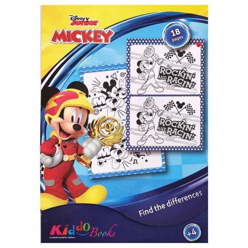 Iskola előkészítés - Mickey és a Roadster verseny keresd a különbséget Kiddo Books
