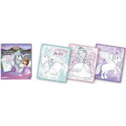 Iskola előkészítő foglalkoztató füzetek - Szófia Hercegnő csillámos foglalkoztató Kiddo Books