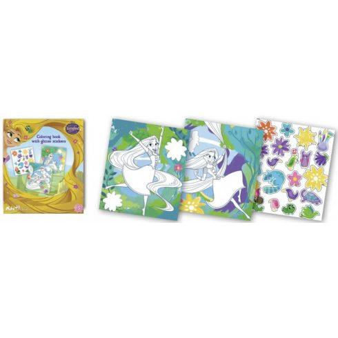 Iskola előkészítés - Aranyhaj foglalkoztató füzet glitteres matricákkal, Kiddo Books