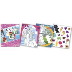 Iskola előkészítés - Disney Hercegnők, foglalkoztató füzet glitteres matricákkal, Kiddo Books