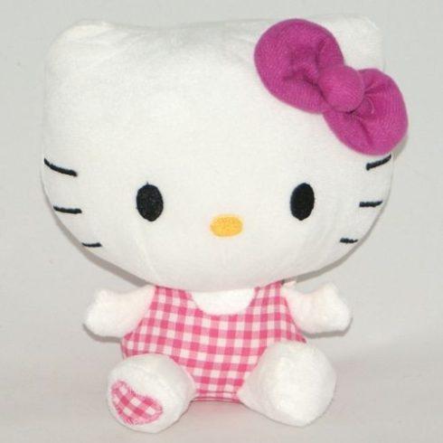 Hello Kitty - Plüss figura - Kockás dresszes