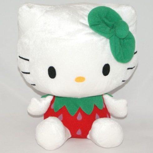 Hello Kitty - Plüss figura - Szamócás ruhában