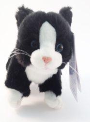 Plüss cica - fekete-fehér - Plüss állat