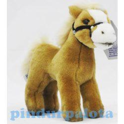 Plüss ponyk - Ló zablával bézs színben