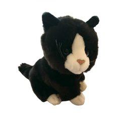 Plüss állatok - Fekete cica fehér manccsal