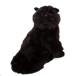 Plüss állatok - Fekete cica, ülő