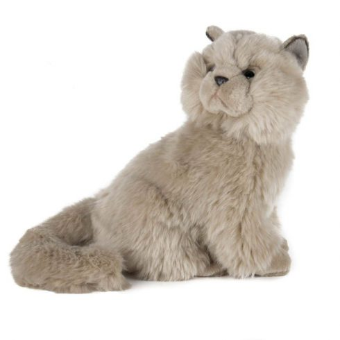 Plüss állatok - Szürke ülő cica