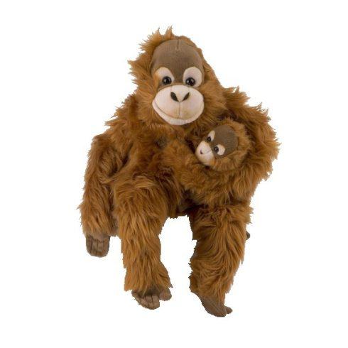 Plüss állatok - Orángután kicsinyével