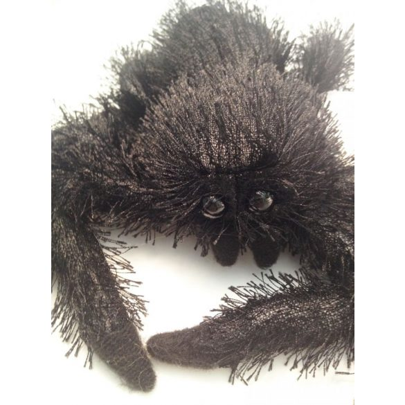 Plüss Pók - fekete - 15cm - Plüss állat