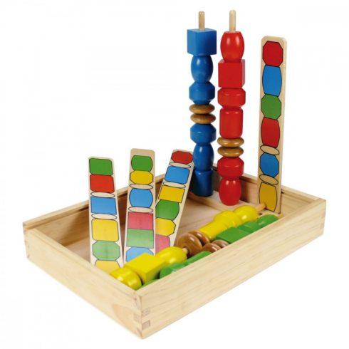 Fa játékok - Sziluett készségfejlesztő fa játék Lena