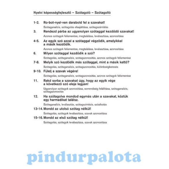 Készségfejlesztő - Logikai - Logico Piccolo Szótagoló Szótagolló