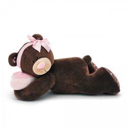 Plüss állatok - Plüss macik - Plüss Milk a maci fekvő alvó 30cm Orange Toys