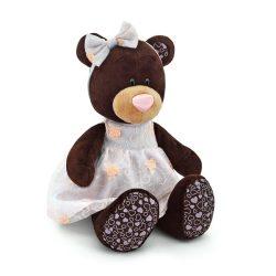 Plüss állatok - Plüss macik - Plüss Milk a maci hímzett ruhában 25cm Orange Toys