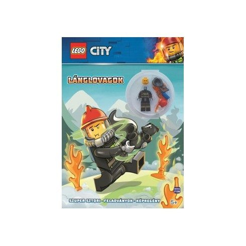 Foglalkoztató könyvek, füzetek - Lego City - Lánglovagok - Minifigura, feladvány, képregény