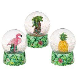 Kütyübazár - Hógömb, ananász, flamingó, pálmafa 8,5cm