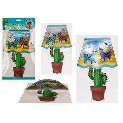 Trendi cuccok - Éjjeli ledlámpa gyerekszobába Lámával Kaktusszal