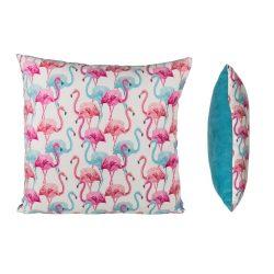 Ajándék a haveroknak - Trendi cuccok - Flamingó díszpárna, 40x40cm