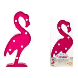 Ajándék a haveroknak - Trendi cuccok - Flamingó világító dísz, 7LED, 30x14cm