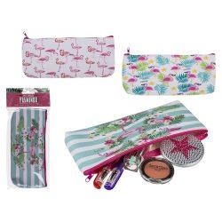 Ajándék a haveroknak - Trendi cuccok - Flamingó neszeszer többféle, 21x9,5cm
