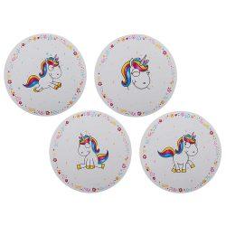 Ajándék a haveroknak - Trendi Cuccok - Unikornis műanyag tányéralátét, 35cm, többféle
