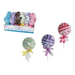 Ajándék a haveroknak - Trendi cuccok - Hajgumi nyalóka formájúra csomagolva 24db hajgumival
