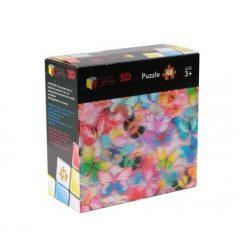 3 D-s puzzle - 3 Dimenzióban megjelenő összerakós játékok - 3D Puzzle Pillangós 48 db-os Hologrammos