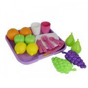 Játék konyhák - Edények - Játék élelmiszerek - Játék élelmiszerkészlet 21 darabos