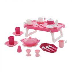 Utánozós játékok - Szerepjátékok gyerekeknek - Reggeliző konyhai étkészlet 29 darabos