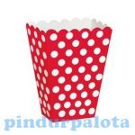 Party kellékek - Popcorn doboz szett 6 darabos