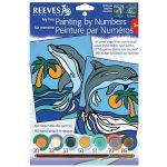 Rajzkészség fejlesztő játékok - Reeves Festés számok után mini delfin