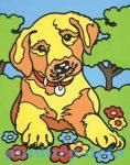 Rajzkészség fejlesztő játékok - Reeves Festés számok után mini kutya