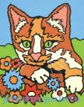 Rajzkészség fejlesztő játékok - Reeves Festés számok után mini cica