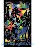 Rajzkészség fejlesztő játékok - Reeves színes képkarcoló mini ágaskodó ló