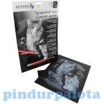 Rajzkészség fejlesztő játékok - Reeves Ezüst képkarcolás Bolyhos kiscicák