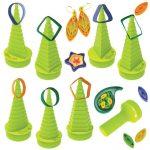 Quilling papírcsík technológia eszközök - Quilling formakészítő zöld