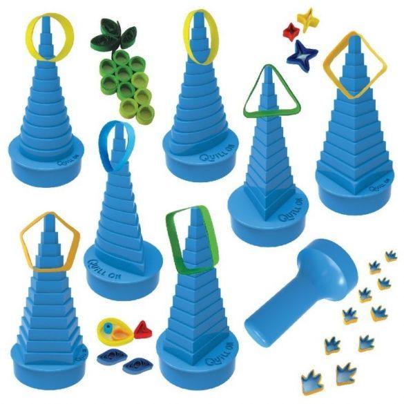 Quilling papírcsík technológia eszközök - Quilling Formakészítő kék