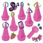 Quilling papírcsík technológia eszközök - Quilling formakészítő pink