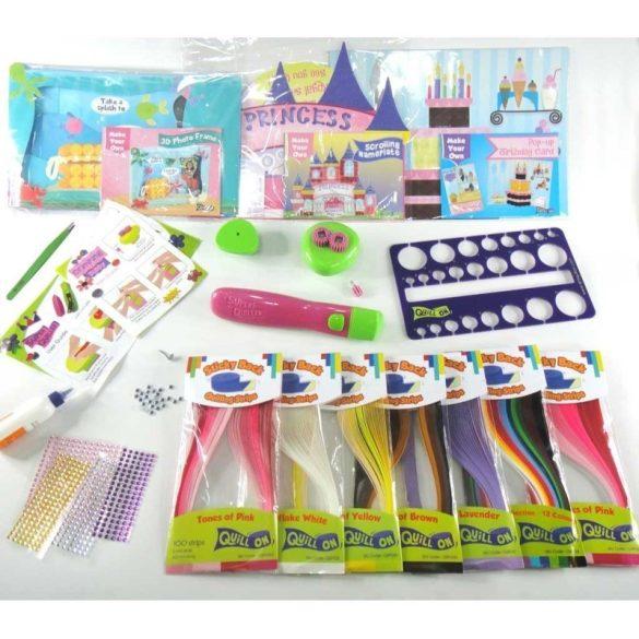 Kreatív Hobby - Quilling papírcsík technológia - Quilling paradise készlet lányoknak