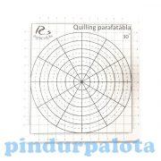 Quilling papírcsík technológia eszközök - Mini parafatábla 4 db sablonnal, 15 x 14 cm