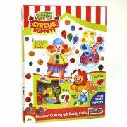 Quilling papírcsík technológia eszközök - Cirkuszi Bábjáték Quilling készlet 3 éves kortól