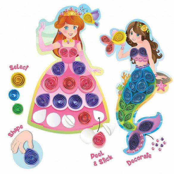 Quilling papírcsík technológia eszközök - Varázslatos Barátok Quilling készlet lányoknak