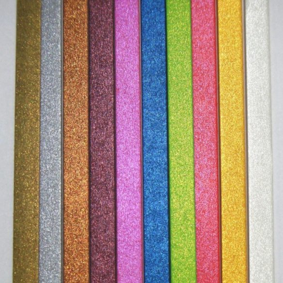Quilling papírcsíkok - Quilling eszközök - Quilling színes metálfényű papírcsíkok 10 szín 100db 10mm